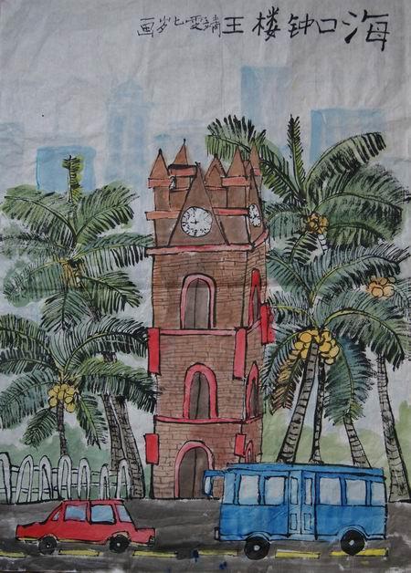 幼儿线描画房子图片